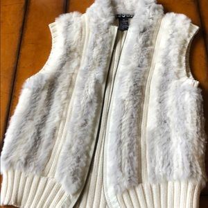 Sweaters - Fur sweater vest